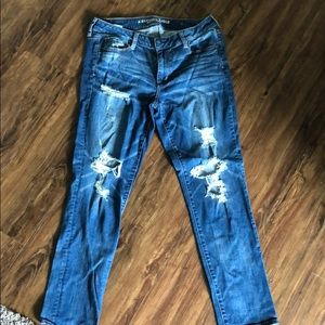 American Eagle Stretch Distress Jeans